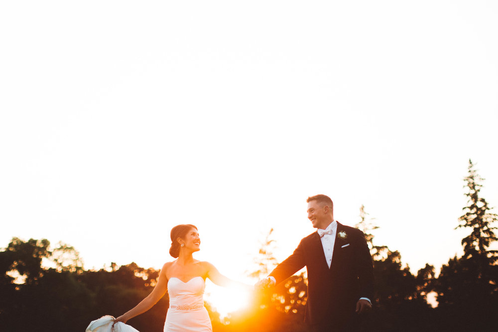 Minneapolis Country Club Golden Hour wedding photography