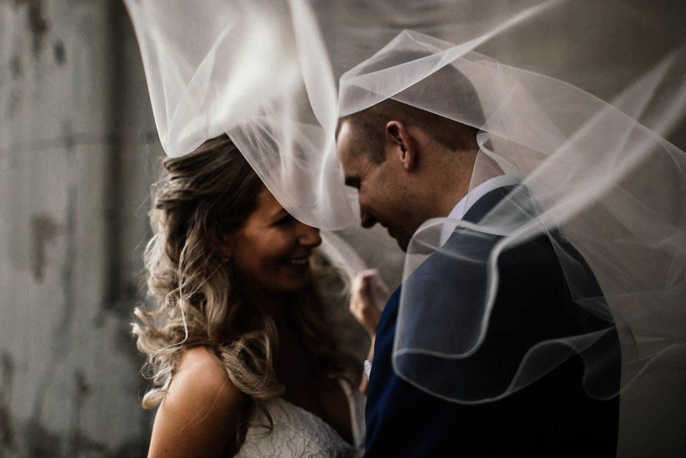 Minneapolis Wedding Photographer Fine Art Veil Shot