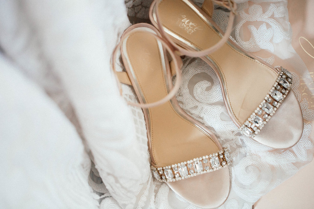 Hewing Hotel Wedding Photography Bride Getting Ready shoes