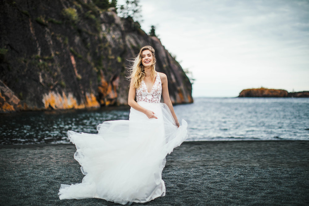 North Shore Minnesota Duluth Elopement Shoot