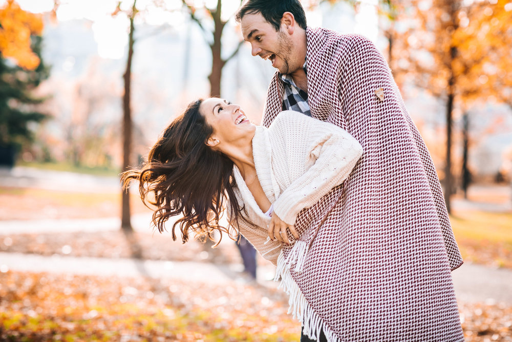 Minneapolis Autumn Engagement Shoot