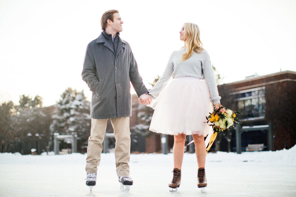 Minnesota Winter Engagement Photographer