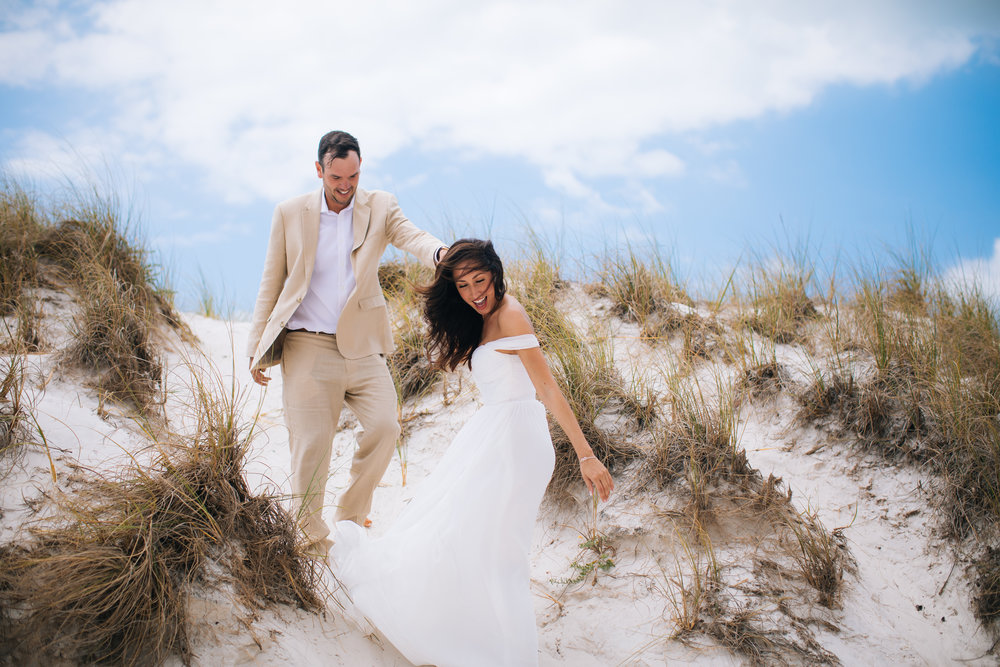 Flowy Beach Wedding Minnesota Vikings