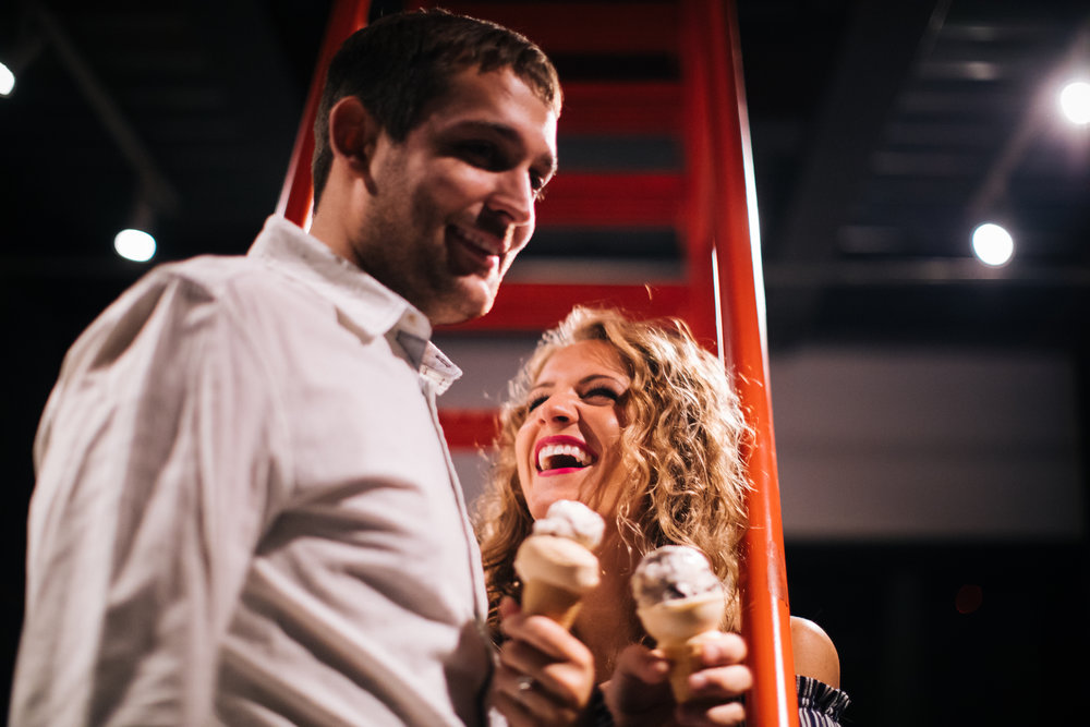 Izzy's Ice Cream Minneapolis Engagement Photos