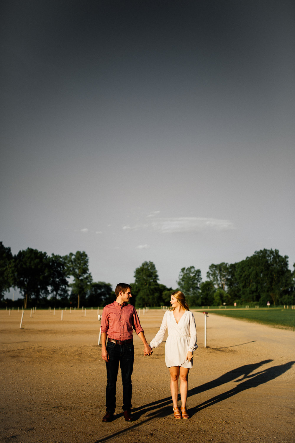 Vali Hi Drive In Engagement Photographer Golden Hour