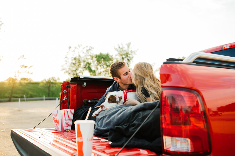 Minnesota Drive In Engagement Photos