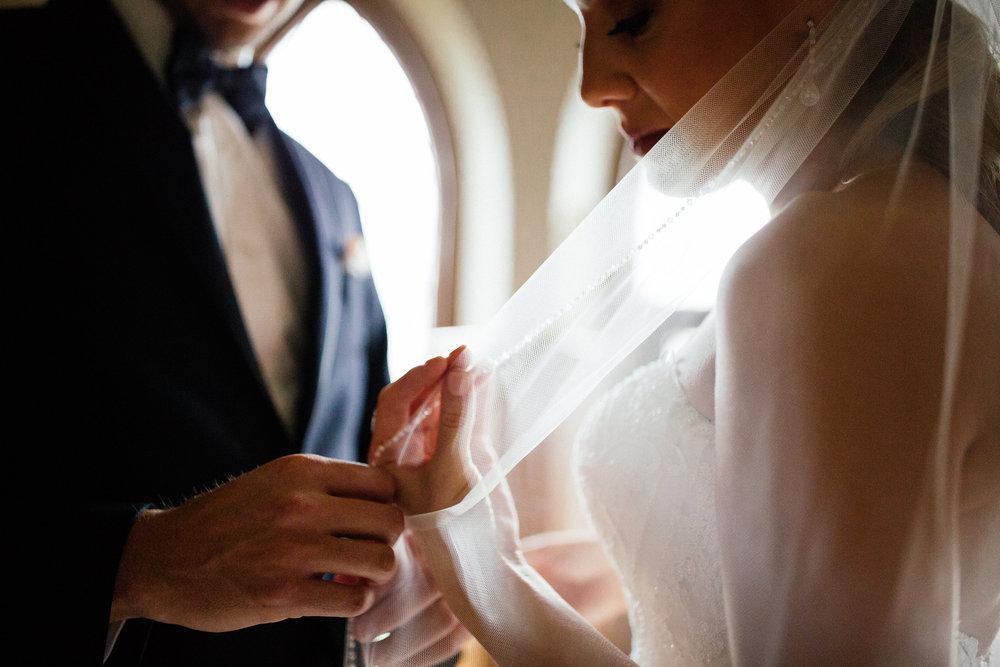 Wedding Veil Detail Photos