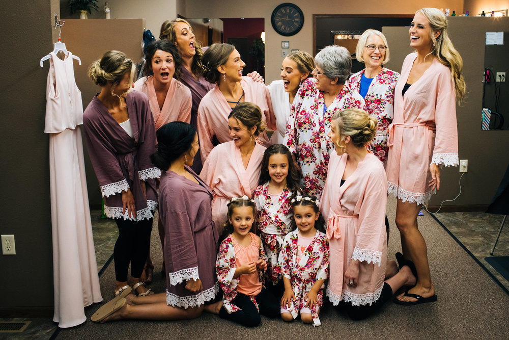 Bridal Party Floral Robes Getting Ready Photographer
