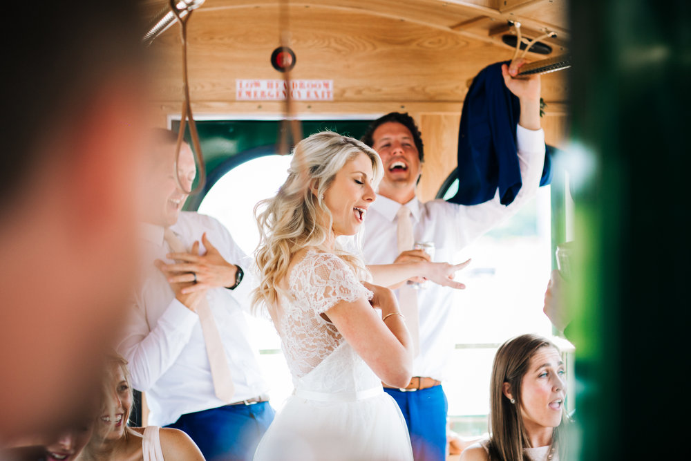 Minnesota Wedding Trolley Transportation Photographer
