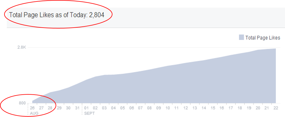 Figure 2 – Fanbase Growth in just one month!