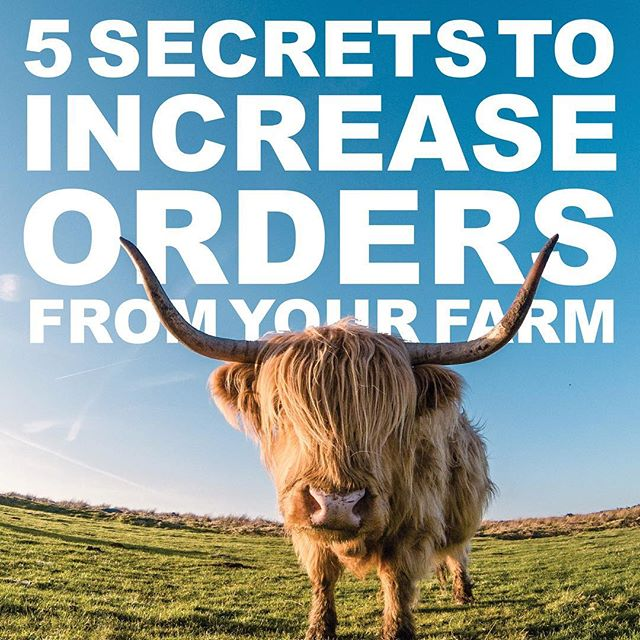 Get your FREE copy of recently published ebook 📖- 5 Secrets to Increase Orders from Your Farm! Link in bio  #farms #farmers #farm365 #freshsheet #agchat #farming #farmtotable #farmtofork #farmer #farmliving #farmermarketing #agriculture #agricultureworld #agriculturelife #sustainablefarming #organicfarming #farmstore #farmersonline #farmwebsite #farmersmarket #farminglife #farmtochef #northcarolinafarms #washingtonfarms #minnesotafarms #southcarolinafarms #instaagriculture #ranchlife #agrarianlife