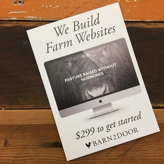 We love helping farmers build strong brand brand presence! Promote your farm, your story and your food! (If you want to learn more just email us info@barn2door.com) .  #farmwebsites #agchat #farm365 #farmsoninstagram #farmbrand #farmstory #farmersconnect