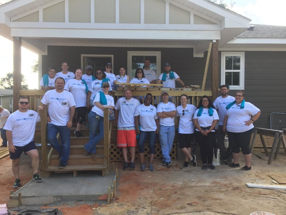 May 15 - RDS gives back in the form of building houses alongside volunteers from Habitat for Humanity.
