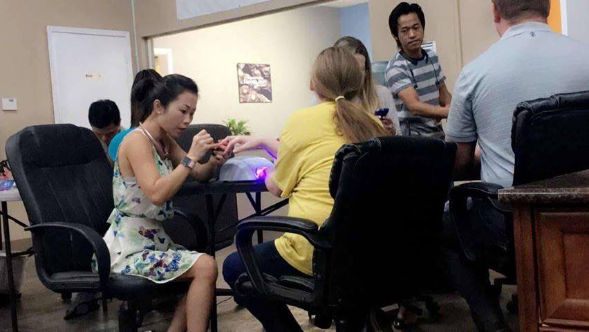 July 25 - Nailed it by bringing in a local salon for manicures.
