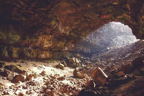 Inside of cave.