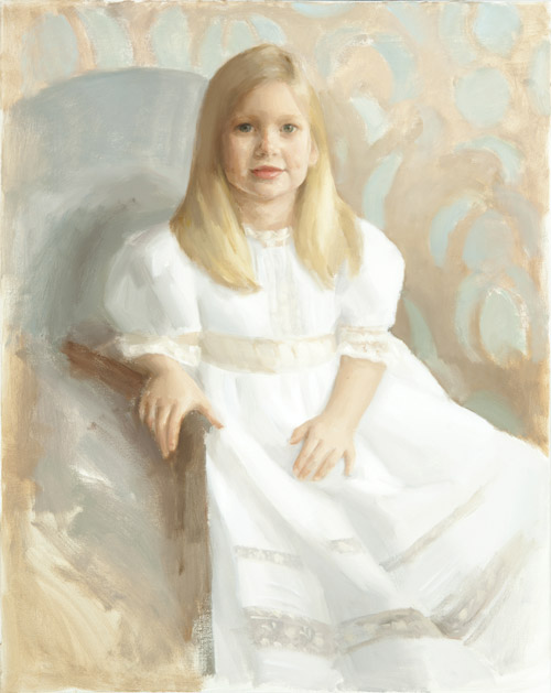 Children's oil portrait