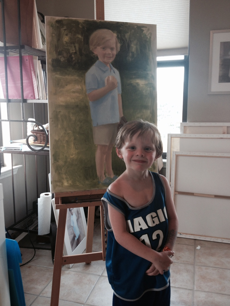 Oil Portrait of Child, Memphis, TN