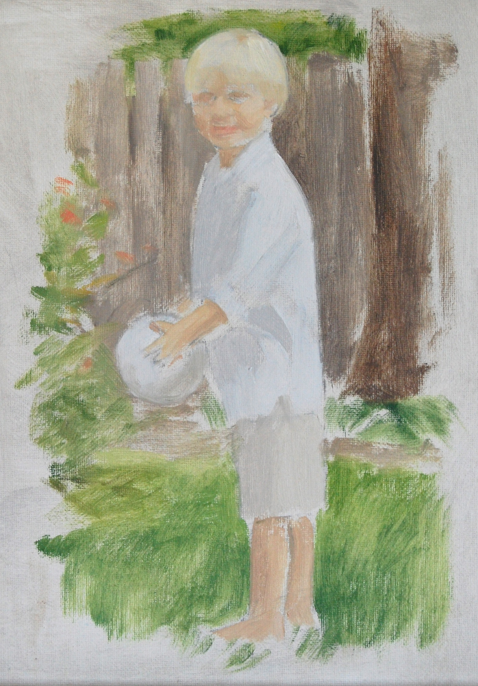 Oil portrait of child