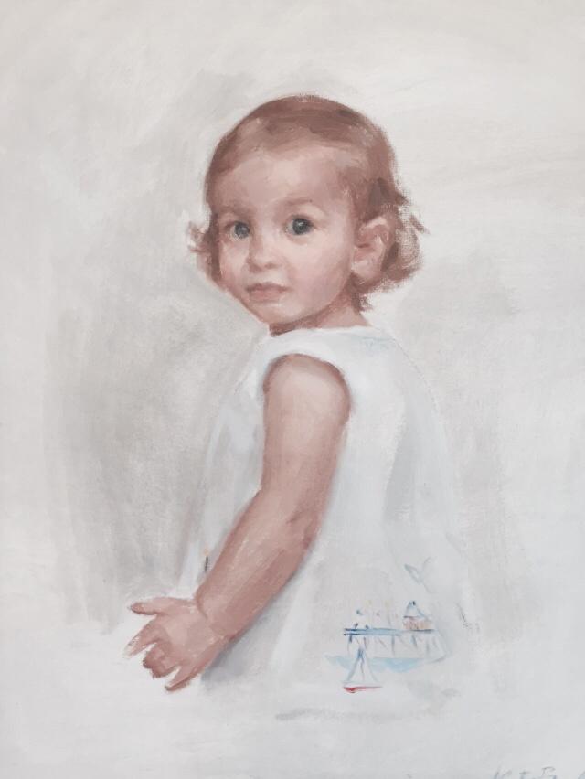 Ceceilia Sanders, Age 2, Oil