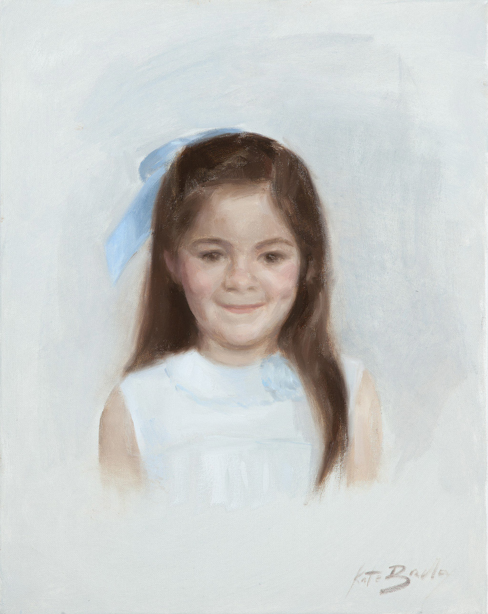 "Ingrid Ozier, Age 5, Oil on canvas, 16"" x 20"""