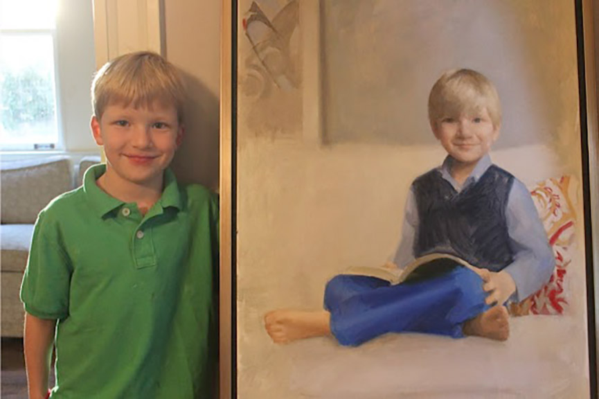 Henry Bush, Age 5, Oil on canvas, Memphis, TN