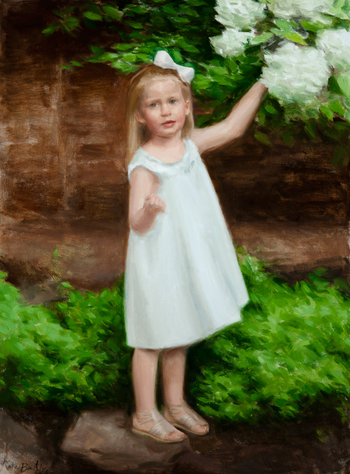 Molly Keras, Age 3, oil