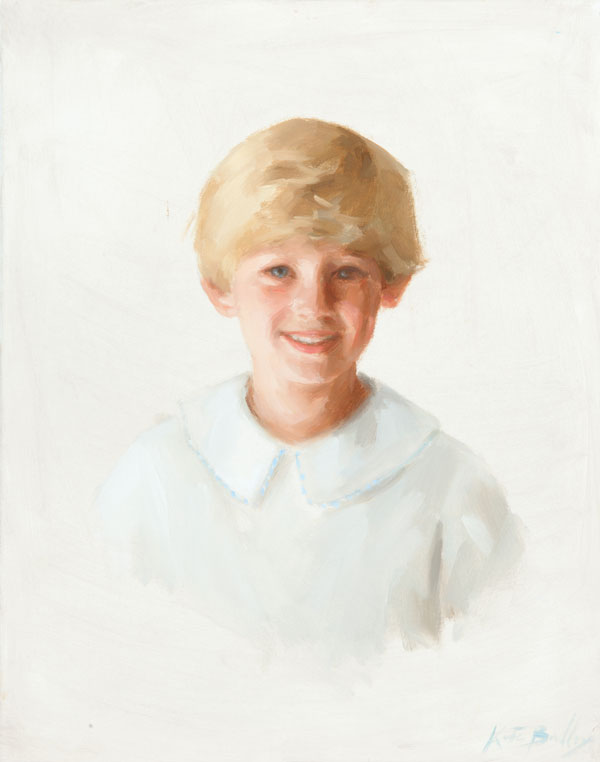 William Frazee, Age 6, Oil on canvas