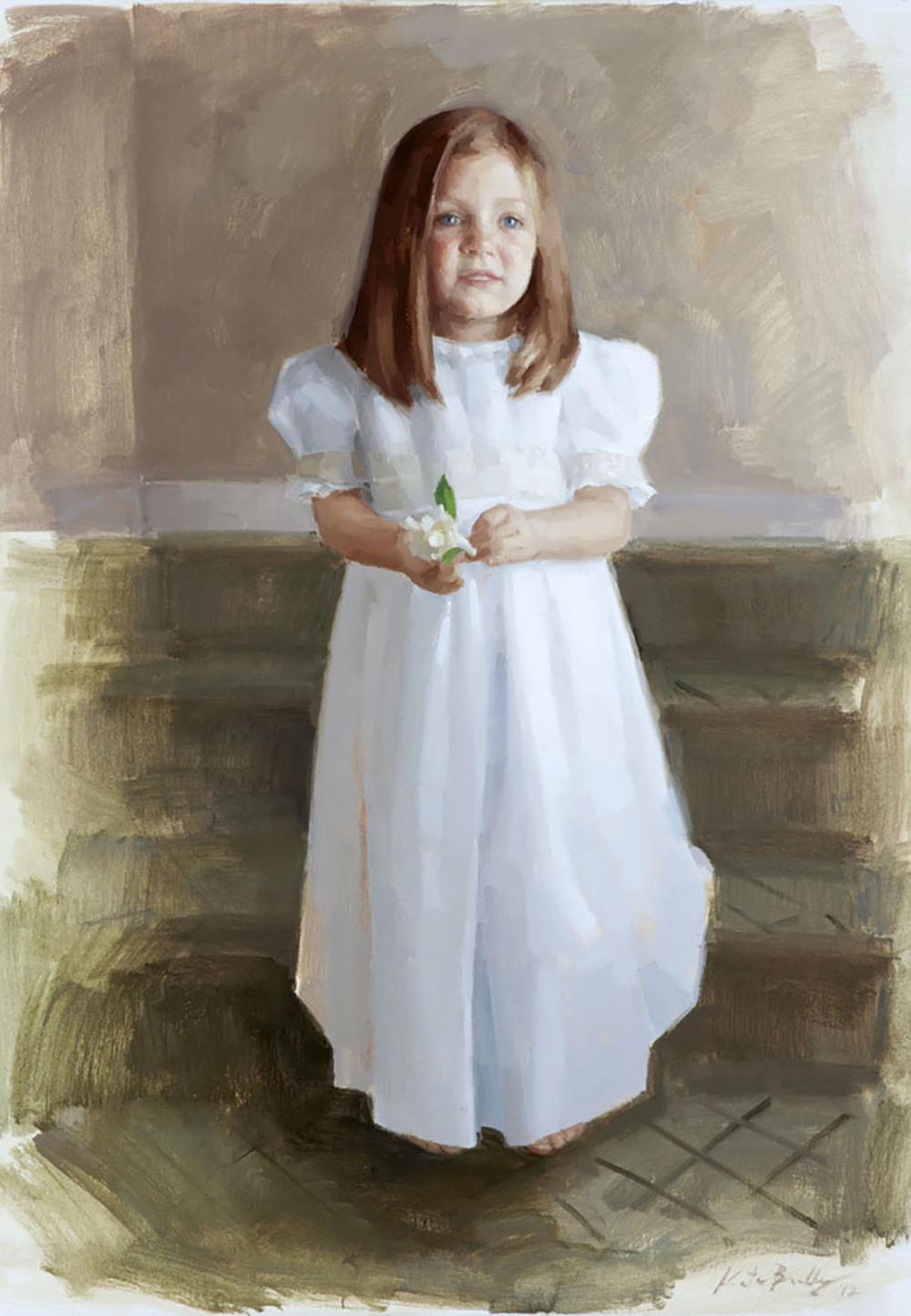 Francis Martin, Age 3, Oil on canvas