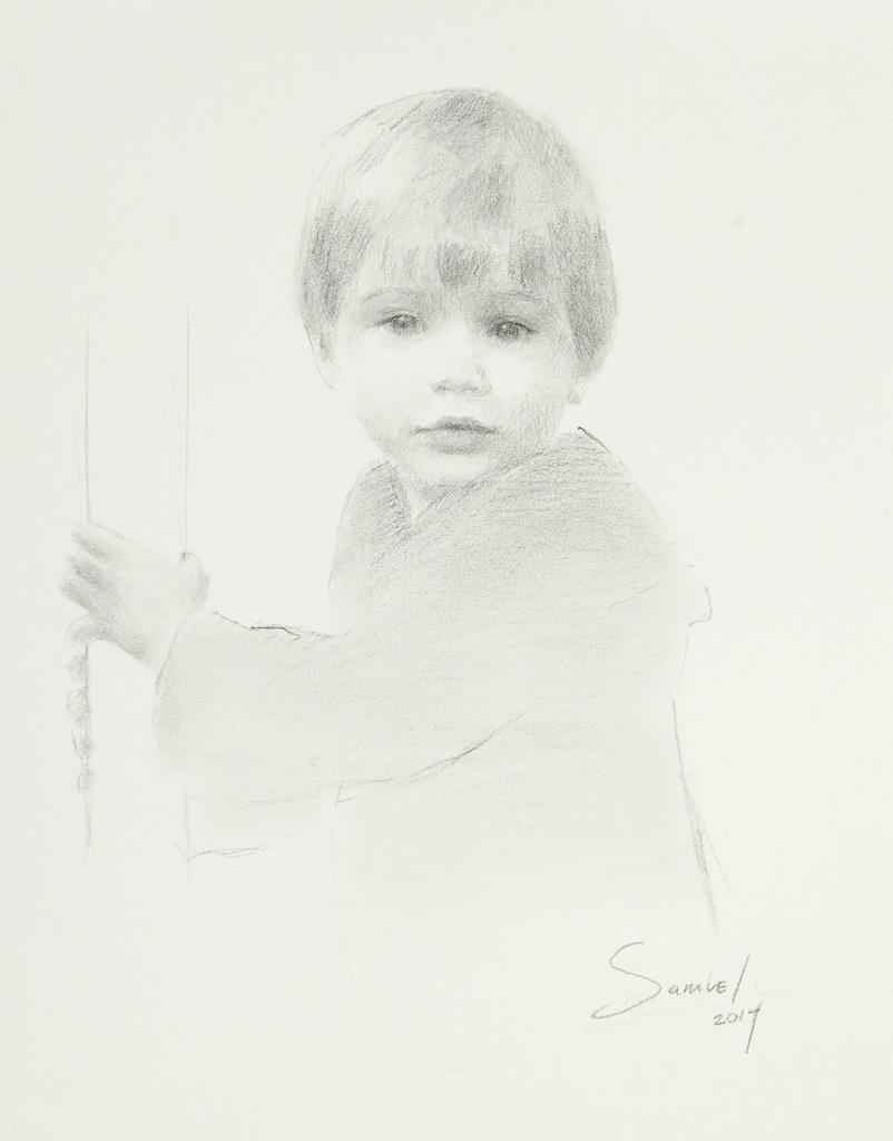 Sam Peterman, Age 2 1/2, Charcoal, Memphis, TN