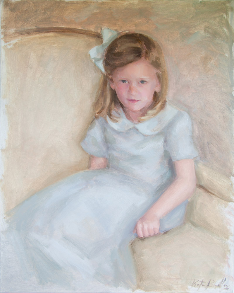 Anna Jane Johnson, Age 4, Oil on canvas