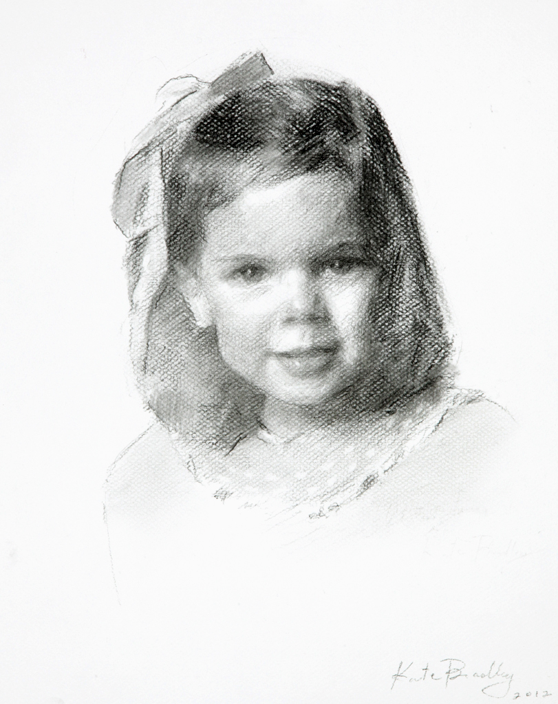 Whitney Bricken, Age 3, Charcoal