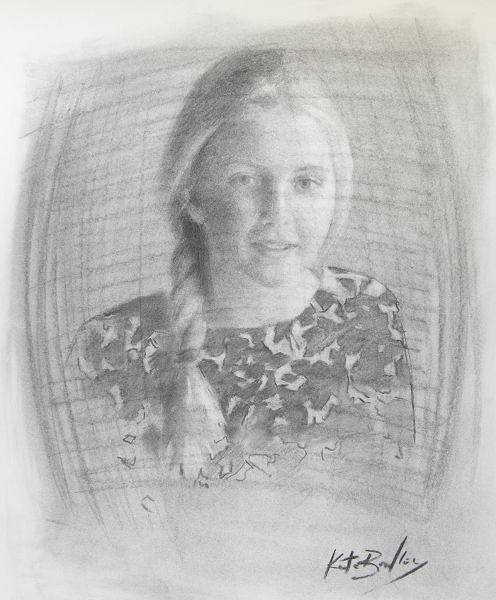 Kathryn Bragg, Age 12, Charcoal