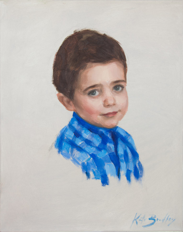 Charlie Grant, Age 3, Oil on canvas