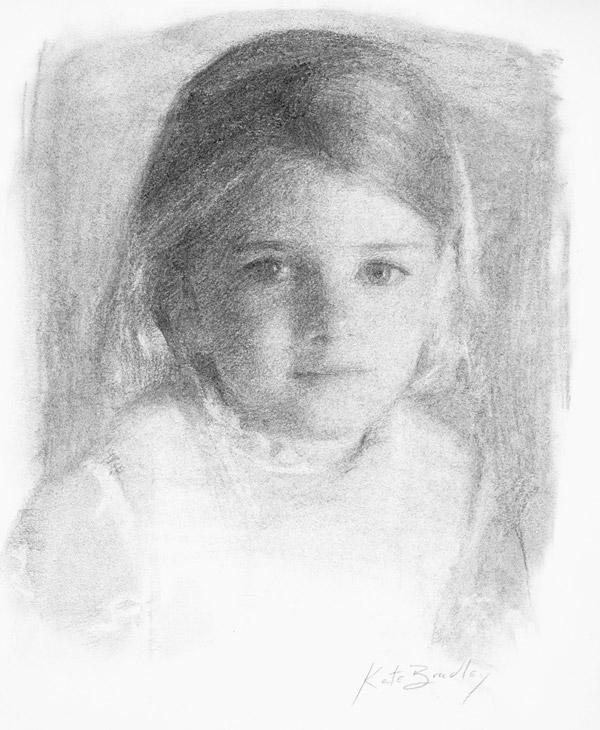 Caroline Hill, Age 3, Charcoal