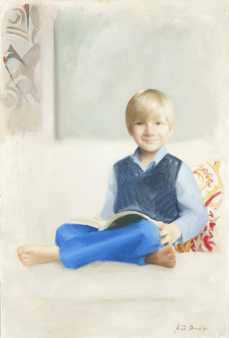 Henry Bush, Age 5, Oil on canvas