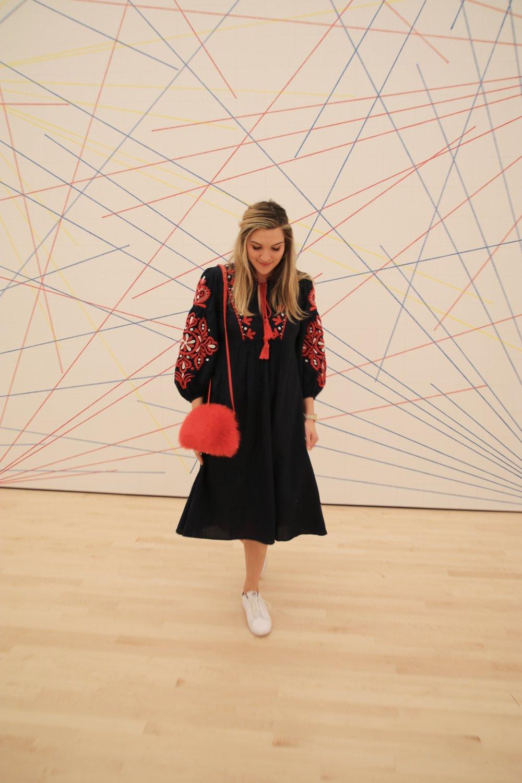 dress:  zara , bag:  loeffler randall (similar  here , fun version  here! ), shoes:  nike  ( similar ).