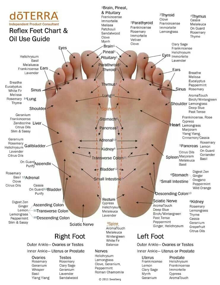 doterra essential oils soles of your feet