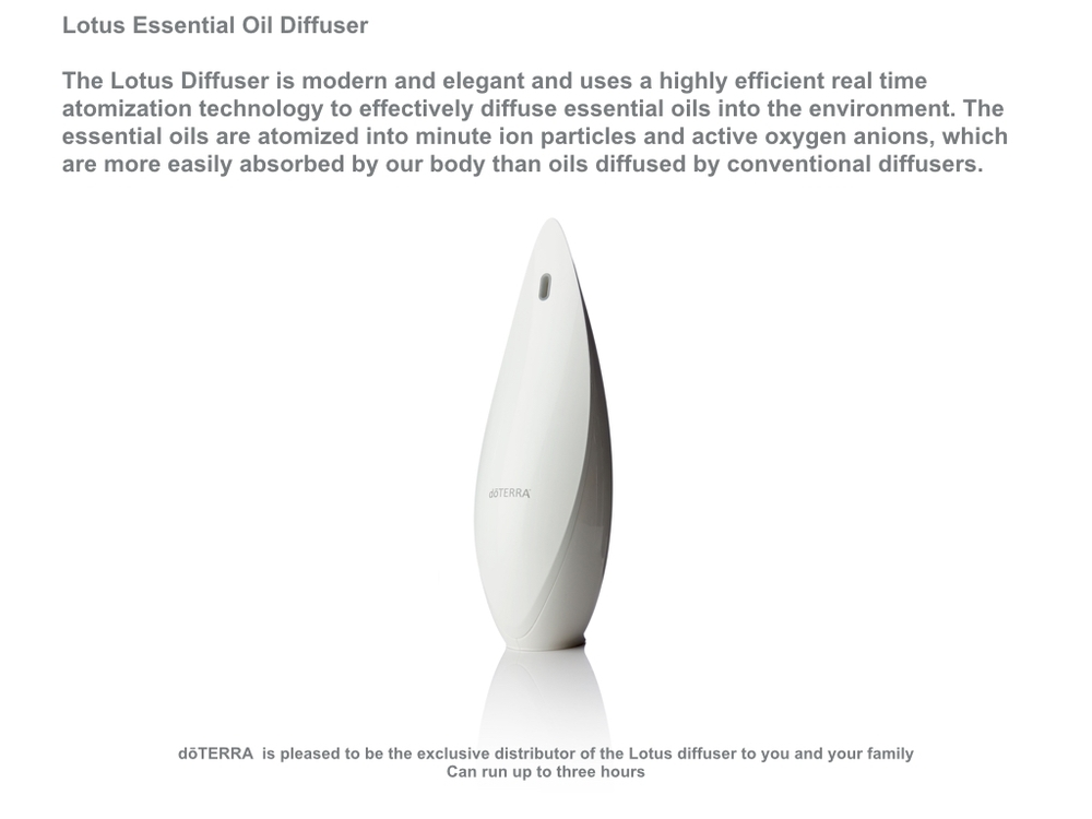 Lotus essential oil diffuser