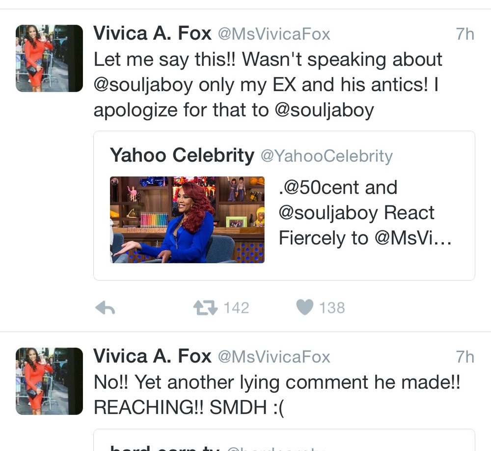Vivica Fox Apologizes to Soulja boy still has words for 50