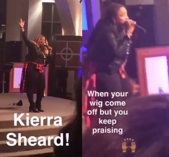 Fan caught a Picture of kierra Sheard before and after her wig came off