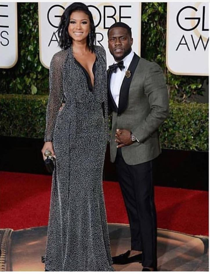 Kevin Hart and his Fiancé Eniko Parrish