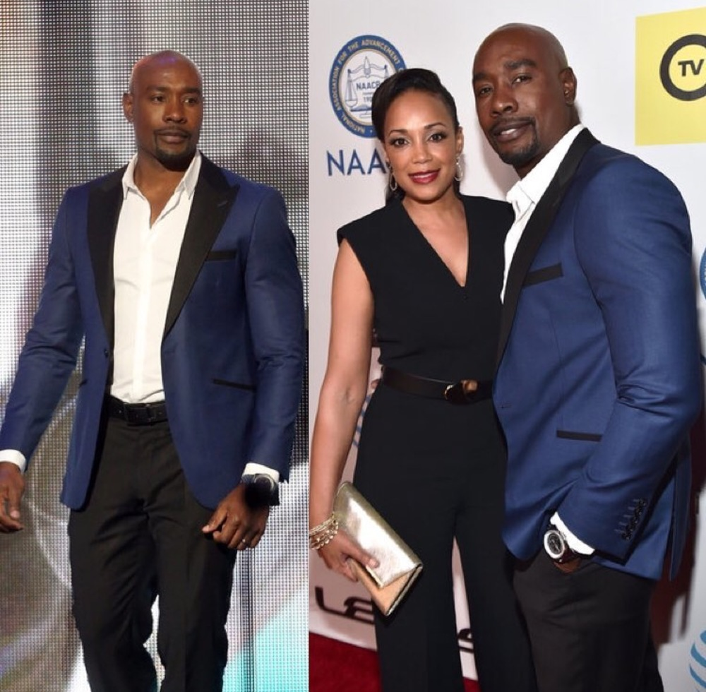 Morris Chestnut and Beautiful wife