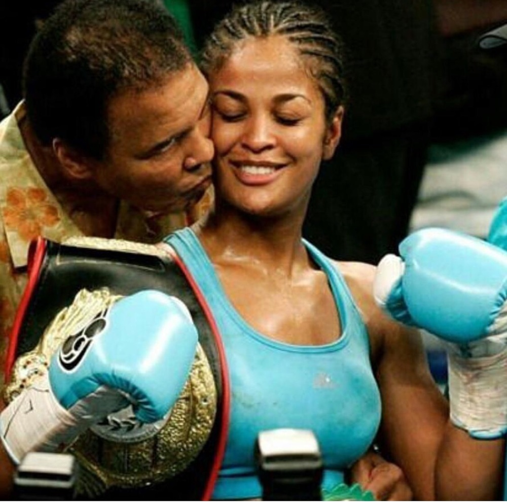 Muhammad Ali  with Daughter Laila Ali