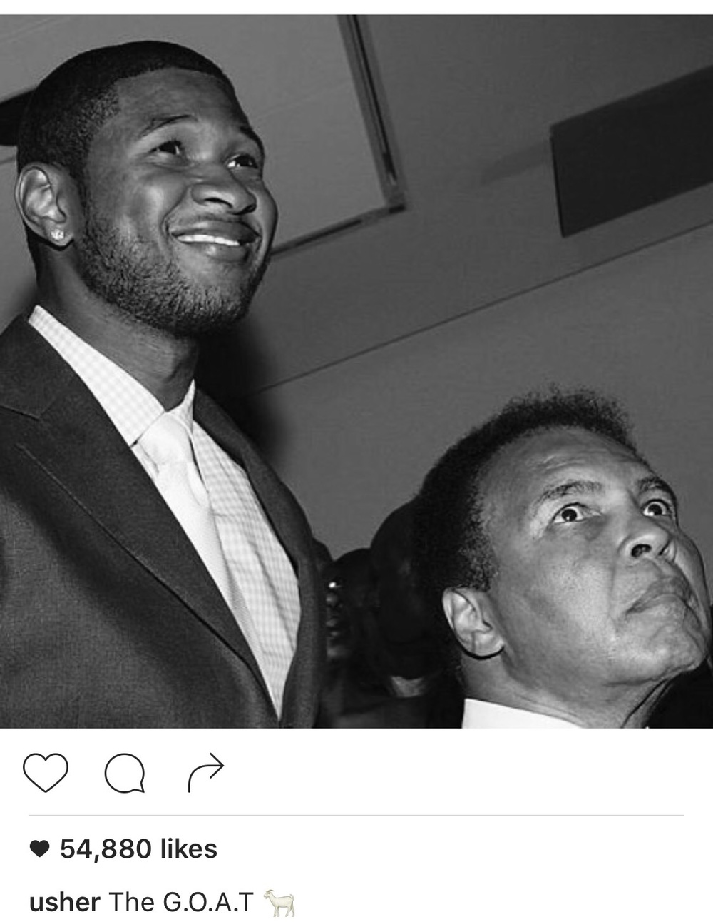 Usher Shared this photo on his Instagram with the Greatest