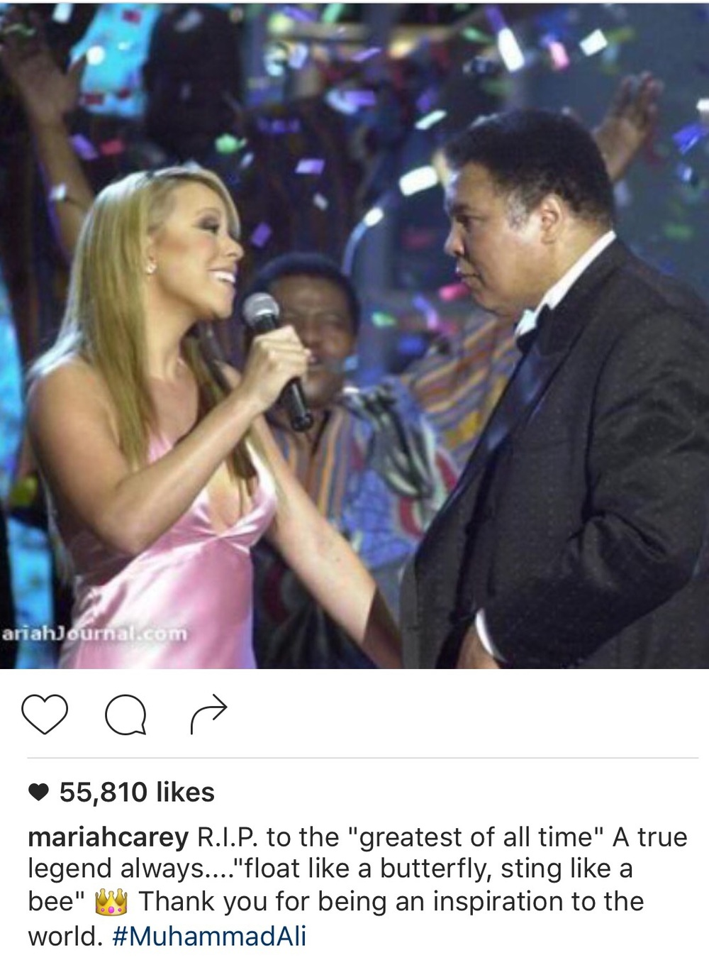 Mariah Carey Shared this photo on her social media