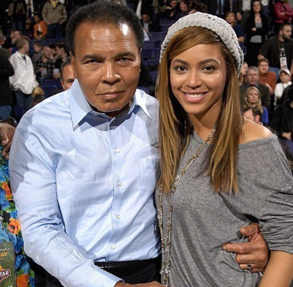 Fans shared this photo of Beyonce and Muhammad Ali