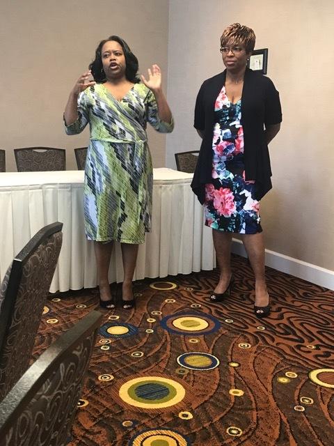 Boss Women - Tarra Jackson-left Personal Financial Coach at Madam Money &Ms. Bridgette-Right.The founder & executive director 4 the award-winning LA based CoffeeTalk Network-Right