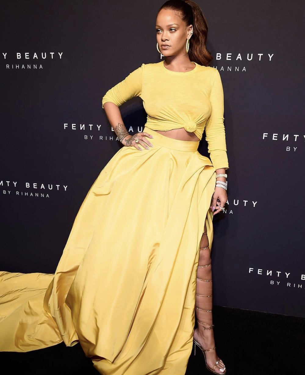 Rihanna shuts down  NYFW introducing her new Fenty Beauty Cosmetic line.