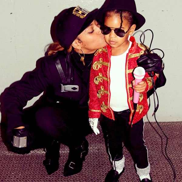Beyonce and Blu - Dressed as Janet Jackson and Michael Jackson Pic source: Rap-up