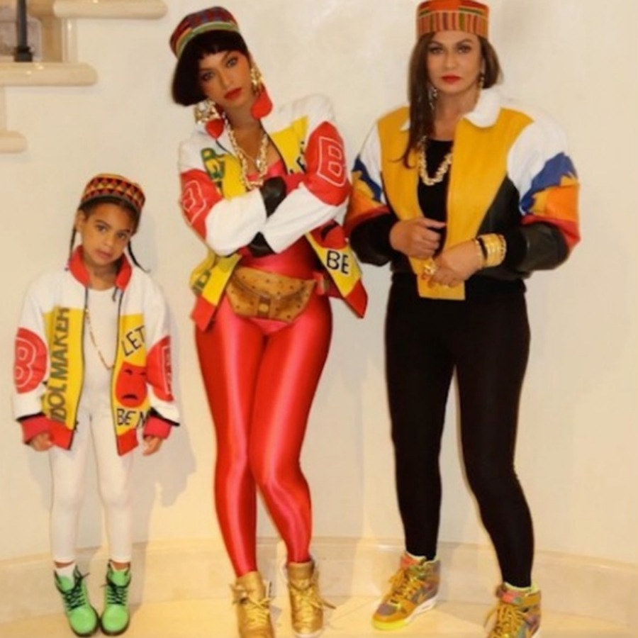 Beyonce, Blu and Tina Lawson -  The mother and daughter trio Dress up as Salt 'n' PepperPic Source: People.com